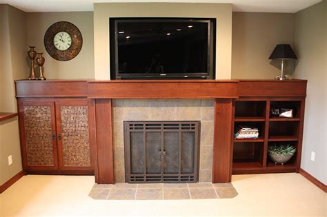 Fireplace Custom Cabinets And Mantle Kitchen Cabinets Mn