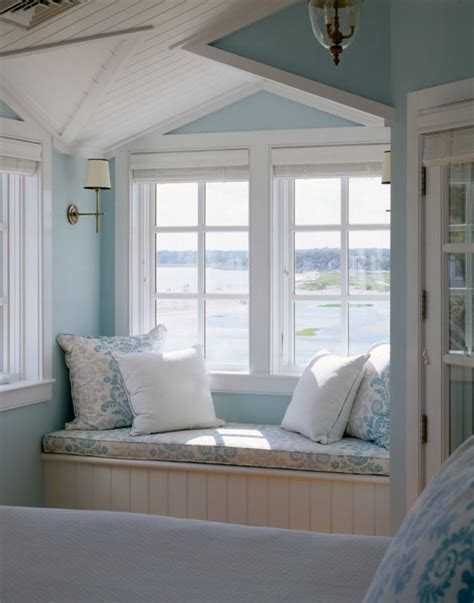 bedroom nook cape cod coastal blue reading nook of master bedroom via