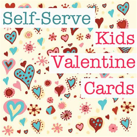 childrens valentines cards ideas how to set up a self serve card