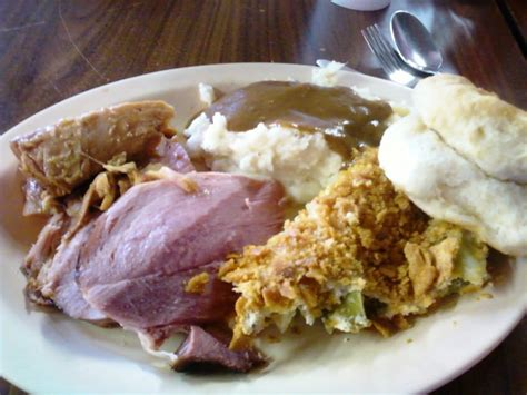 carvers country kitchen baked ham broccoli souffle mashed potatoes and gravy
