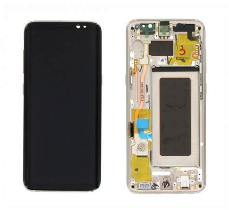 Sparepart Samsung S8 lcd with touch and frame samsung galaxy s8 g950 gold