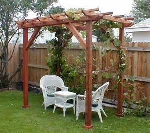 grape arbor pergola plans woodguides
