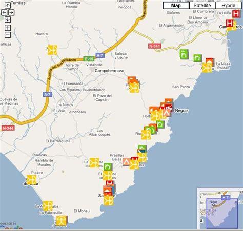 mapa parque cabo de gata el de cabo de gata nuevo mapa de servicios