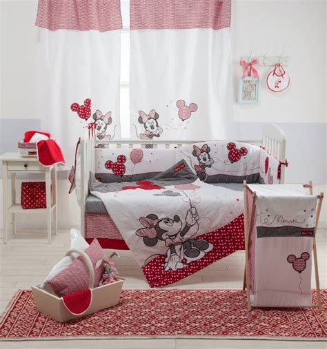 Disney Red Minnie Mouse 4 Piece Crib Bedding Set Girls Disney Minnie Mouse Crib Bedding Set