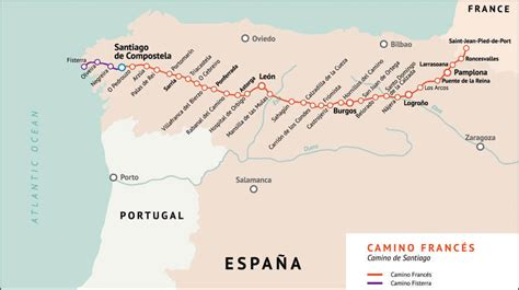 camino de santiago mappa etapas camino franc 233 s camino de santiago gu 237 a
