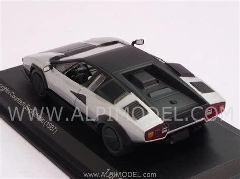 Lamborghini Silver White whitebox wb512 lamborghini countach evoluzione 1987