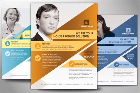 free business flyers design templates multipurpose business flyer poster flyer templates on