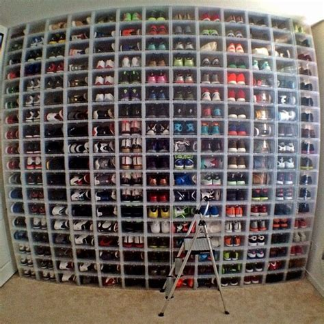 Sneaker Wall Rack what a collection sneakers omg shoes