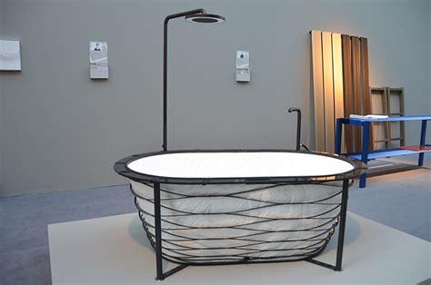 designboom piotr boruslawski carina deuschl showcases collapsable xtend bathtub at imm