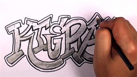draw graffiti letters  kieran  names