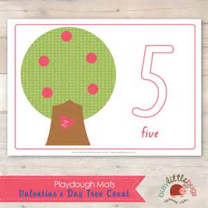 Number Playdough Mats by Busy Bugs Valentines Day Tree Count Playdough Mats