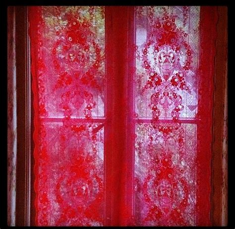 Red Lace Curtains Home Pinterest