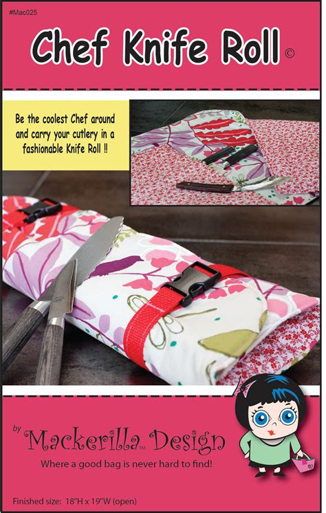 pattern for knife roll chef knife roll sewing pattern pdf