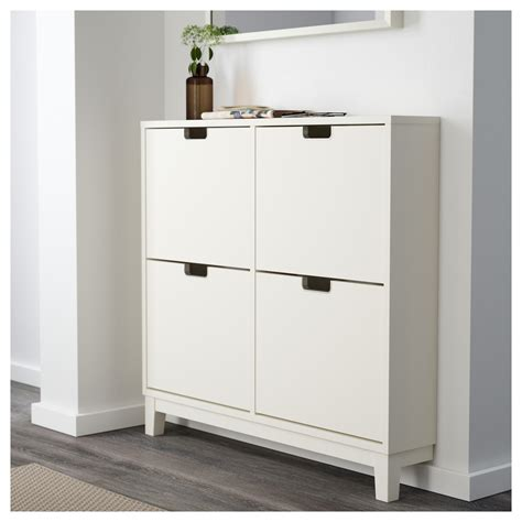 Shoe Storage Cabinet St 196 Ll Shoe Cabinet With 4 Compartments White 96x90 Cm Ikea