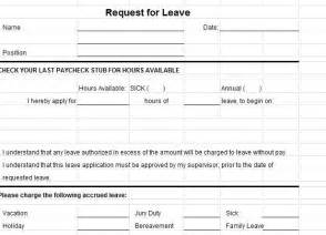 Sick Leave Form Template by Leave Request Form Leave Request Form Template