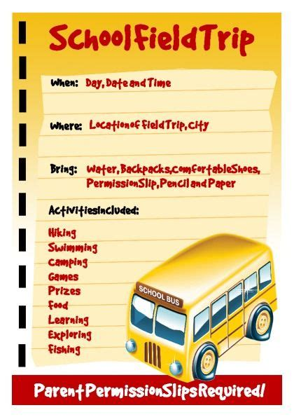 School Field Trip Flyer Template Education Related Flyer Template Freeflyertemplate Print Diy School Fieldtrip Marketing