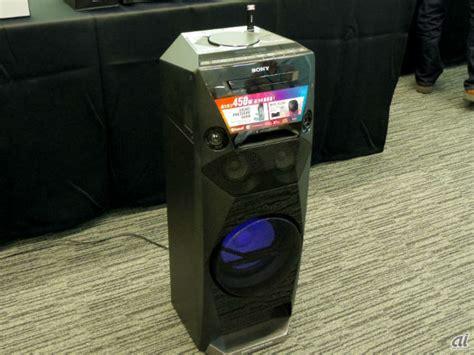 ソニー 光と音圧で重低音を存分に感じるハイパワーオーディオ cnet japan