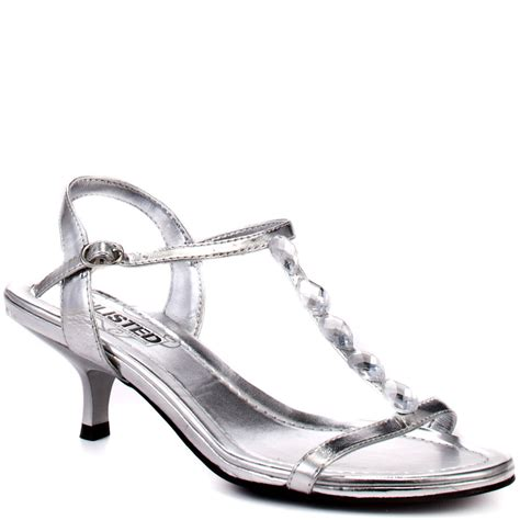 silver sandal heels unlisted s silver care mp silver for 44 99 direct