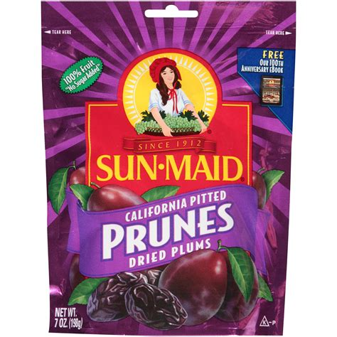 Sun Dried Pitted Prunes 130g sun pitted prunes dried plums net wt 7 oz 198 g