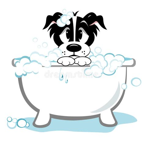 bathtub clipart free sad dog taking bath stock vector illustration of bathtub