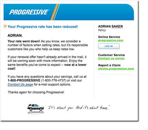 Progressive Insurance Letterhead brand o the week progressive household name