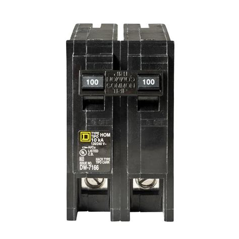 Christmas Decorations Home Depot Square D Homeline 100 Amp 2 Pole Circuit Breaker Hom2100cp