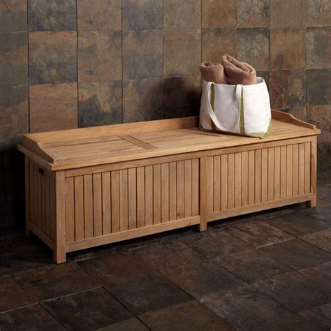 Outdoor Bench With Storage Jakie 6 Ft Teak Outdoor Storage Bench Outdoor Furniture Outdoor