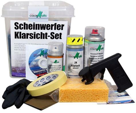 Aufkleber Von Kunststoffscheibe Entfernen by Flowmaxx Autopflege Colormatic Scheinwerfer Klarsicht Set