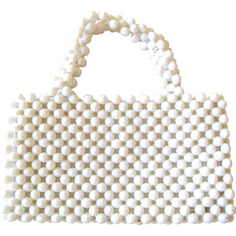 plastic bead white plastic bead purse hong kong from 2heartsjewelry rl
