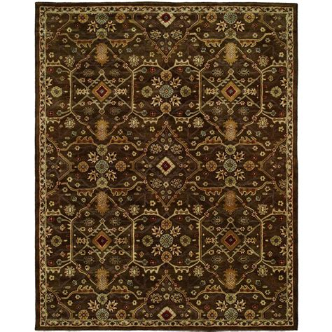 10 x 13 ft area rug kalaty empire chocolate 10 ft x 13 ft 6 area rug em 295