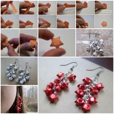 How To Make Origami Jewelry - diy origami lucky earrings