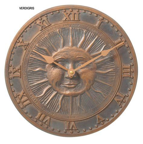 whitehall sunface outdoor clock