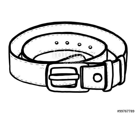 Horizontal Belt Fashion Coloring Pages Belt Coloring Pages