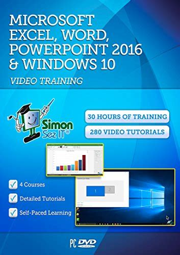 tutorial excel windows 10 learn microsoft office 2016 and windows 10 30 hours of