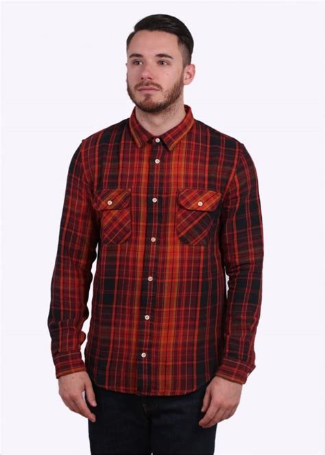 Jaket Sweater Hoodie Levis Maroon levi s vintage clothing shorthorn check shirt plaid burgundy triads mens from triads uk