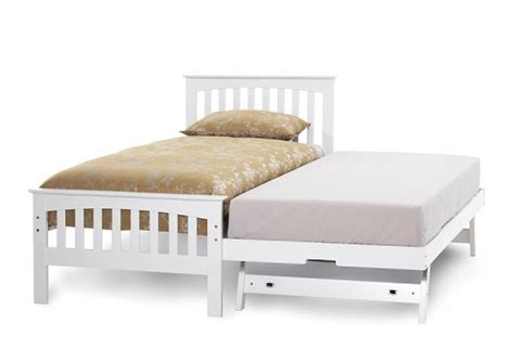 sleepover beds serene amelia 3ft single white wooden guest bed frame by
