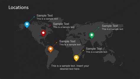 powerpoint templates location world map locations powerpoint slide design slidemodel
