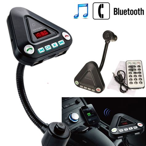 Car Fm Modulator With Usb Charger Micro Remote car kit wireless mp3 player fm transmitter usb tf car charger remote with bluetooth function