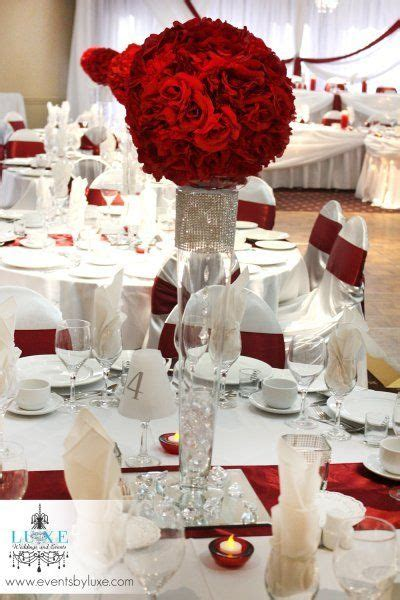 used wedding centerpieces for sale ontario burgundy and white centerpiece wedding decorations by luxe