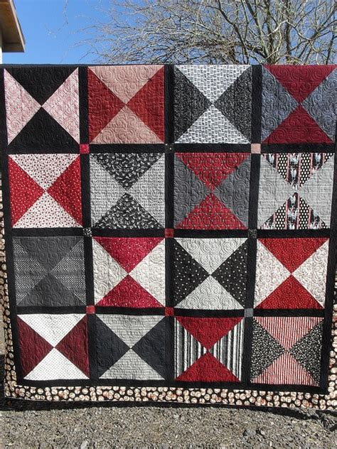 grey black and quilt quilts