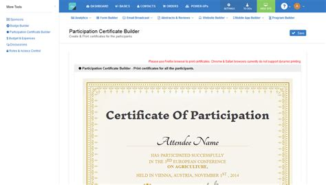 conference certificate of participation template participation certificates participation certificates