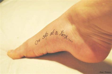 small black foot quote tattoos for girls tattoos