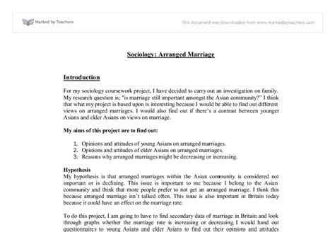 Essays About Marriage And Arranged Marriage by Sociology Arranged Marriage Coursework Gcse Sociology Marked By Teachers