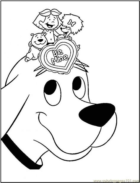 printable coloring page clifford big red dog cartoon