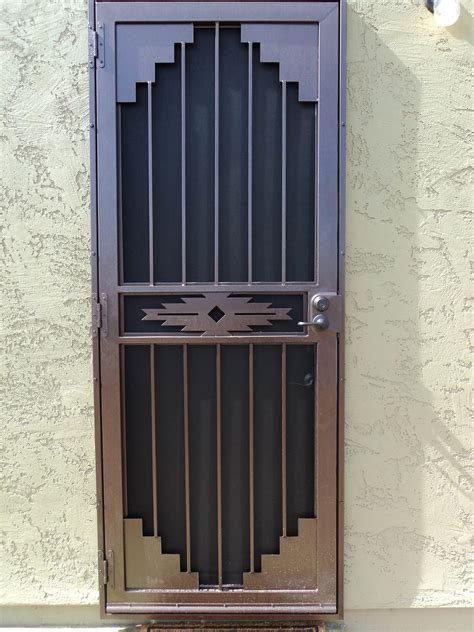 secure door wrought iron security gate front door nucleus home