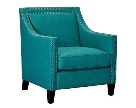 Teal Accent Chair Blue Green Armchair With Nailhead Details Erica Teal Accent Chair American Freight
