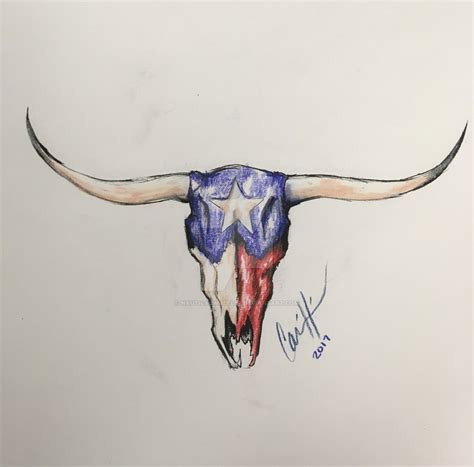 texas longhorn tattoo designs longhorn color design c by nauticalwheeler