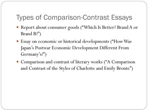 Different Types Of Essays Powerpoint by Ppt Comparison Contrast Essay Powerpoint Presentation Id 2703190