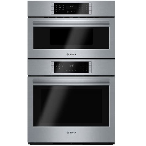 microwave combo shop bosch self cleaning convection microwave wall oven combo common 30 in actual 29 75 in