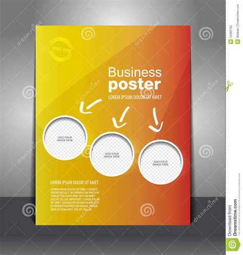 design poster free vector design color flyer with place for image stock